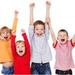 Kids cheering because the all new Oakwood Dental Practice website is now live!